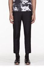 KENZO CROPPED BLACK TROUSERS for men