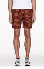MARC BY MARC JACOBS Red & Olive CAMOuflage print CLAPHAM SHORTS for men