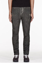 SILENT BY DAMIR DOMA OLIVE WASHED PEMA TROUSERS for men