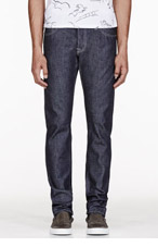 A.P.C. Indigo CARHARTT Low Rise Jeans for men