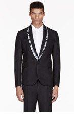 MCQ ALEXANDER MCQUEEN Black MCQ printed TUX blazer for men