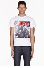 DIESEL WHITE Crowds GRAPHIC t-shirt for men