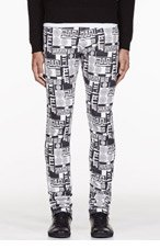 VERSUS Black & White logo print M.I.A. edition Jeans for men