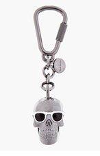 PAUL SMITH Black brass Dressed Skull pendant keychain for men