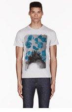DIESEL Grey MOHAWK print primitive beauty t-shirt for men