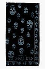 ALEXANDER MCQUEEN Black & grey SA SKULL TOWEL for men