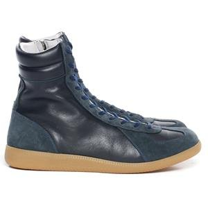 nonnative Trooper Trainer Hi - Cow Leather Navy
