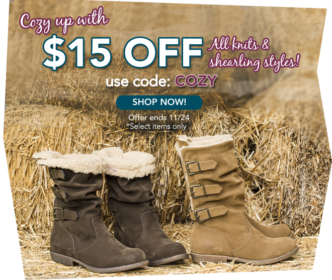 Cozy Up with $15 Off!