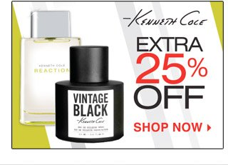 25% OFF KENNETH COLE On Line and In Store