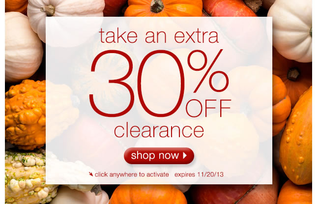 Take An Extra 30% Off Clearance: Shop Now