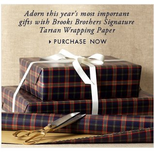 SIGNATURE TARTAN WRAPPING PAPER