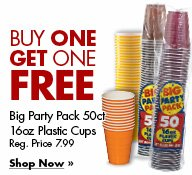 Big Party Pack 50ct 16oz Pastic Cups