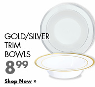 Gold/Silver Trim Bowls