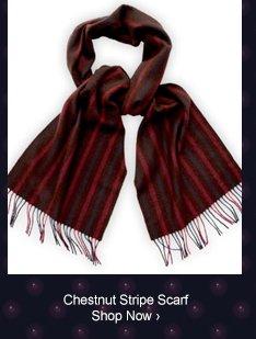 Chestnut Stripe Scarf