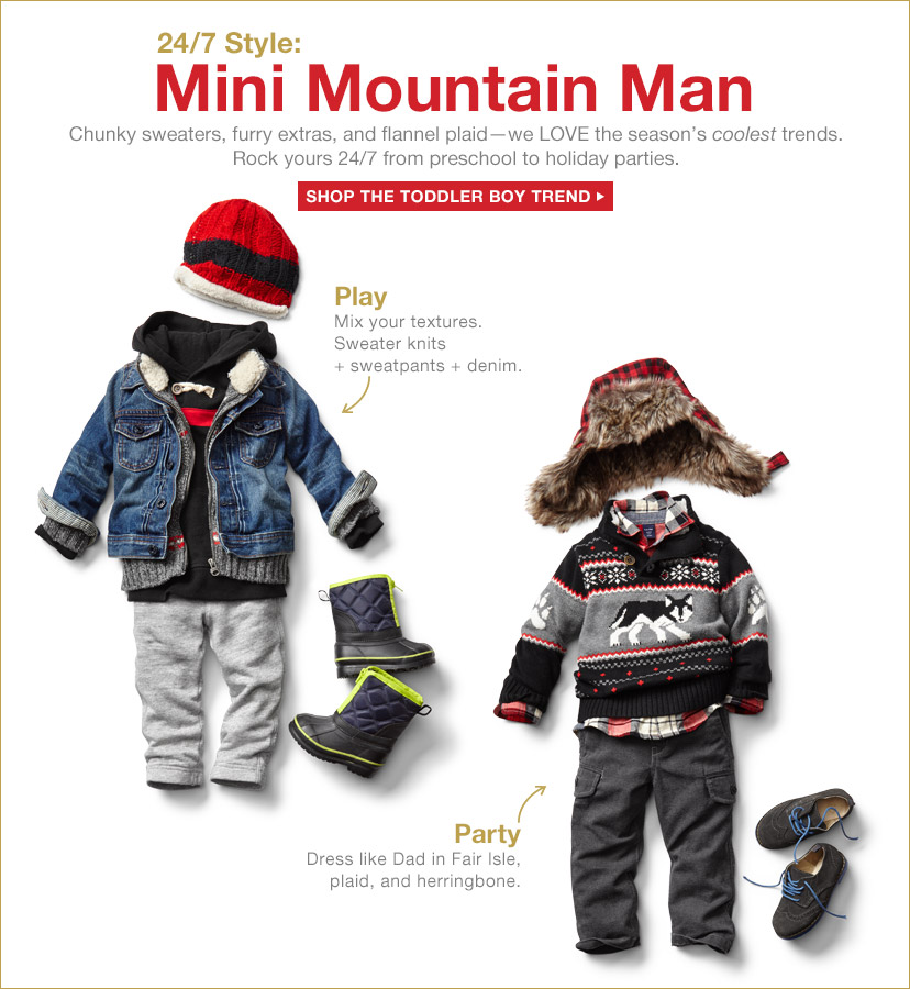 24/7 Style: Mini Mountain Man | SHOP THE TODDLER BOY TREND