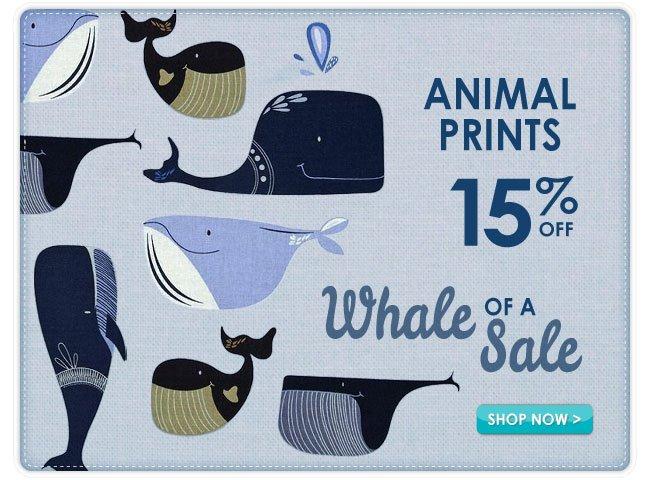 15% Off Animal Print Fabrics