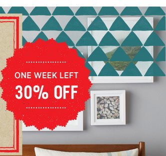 One week left. 30% off