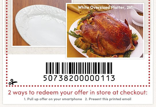 Ceramic Turkey Platter - $6.99 (In Store: 5pm-8pm local time or Online: 5pm-8pm PST)