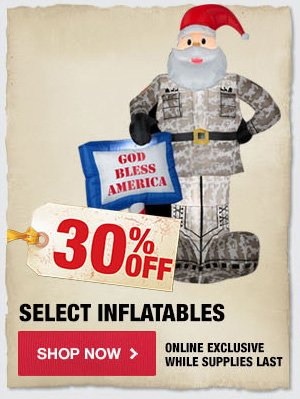 30% OFF Select Inflatables