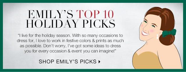 Visit Emily's Holiday Picks