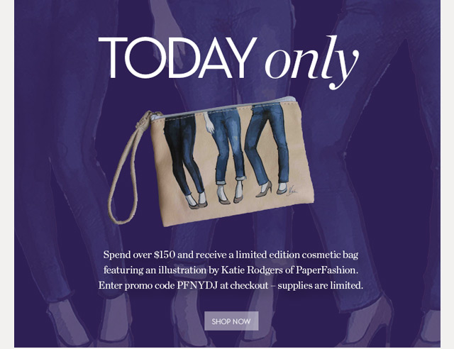 Today ONLY! Free gift with purchase