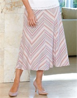 Chevron Stripe Skirt