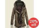 Hooded Drawstring-Waist Padded Jacket