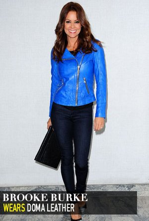 Brooke Burke in Doma Leather