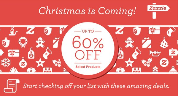 Christmas is Coming!  UP TO 60% OFF Select Products  Start checking off your list with these amazing deals.
