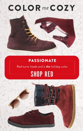Passionate - red turns heads and is the holiday color - Shop Reds