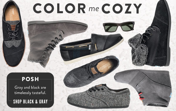 Posh - gray and black are timelessly tasteful - Shop Black & Gray