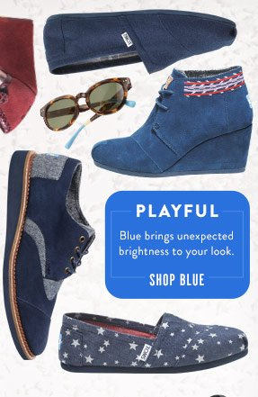 Playful - blue brings unexpected brightness to your look - Shop Blues