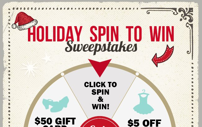 Play the Holiday Spin to Win Sweepstakes