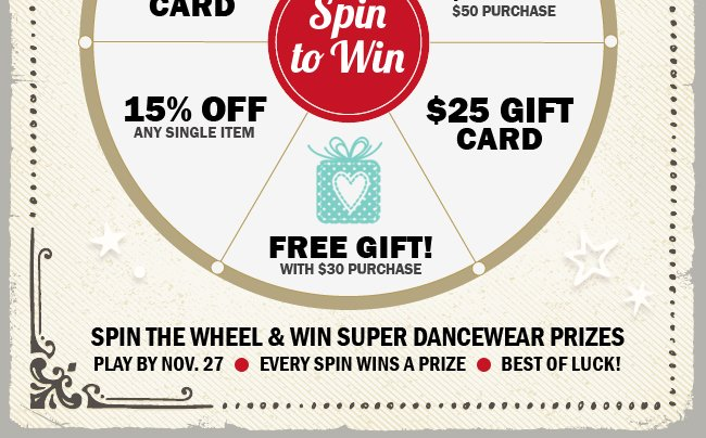 Click now to spin and win.