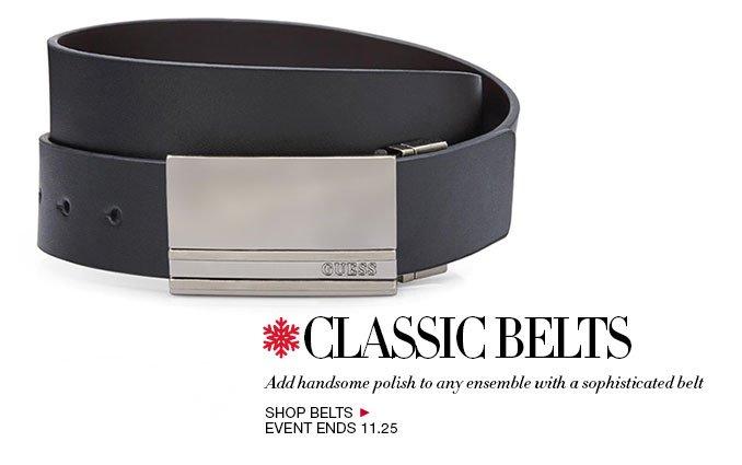 Shop Classic Belts for Men
