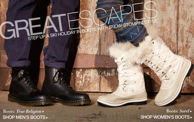 Shop The Look: Great Escapes Boots for Men and Women