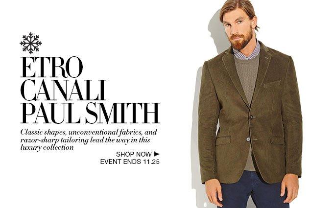Shop Luxury Designer Looks for Men: Etro, Canali, Paul Smith