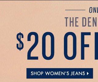 20% OFF Women's Full-Priced Jeans