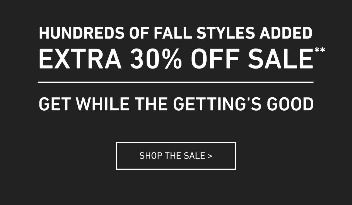 Extra 30% Off All Sale Items!