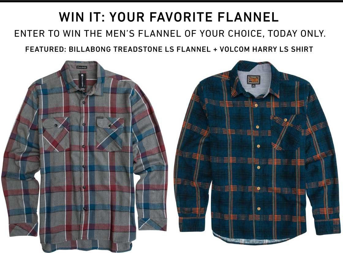 Enter To Win Your Favorite Flannel!