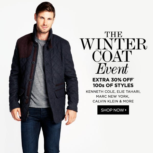 Today Only! 30% Off Coats