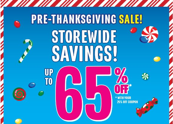 Up to 65% Off Entire Store!