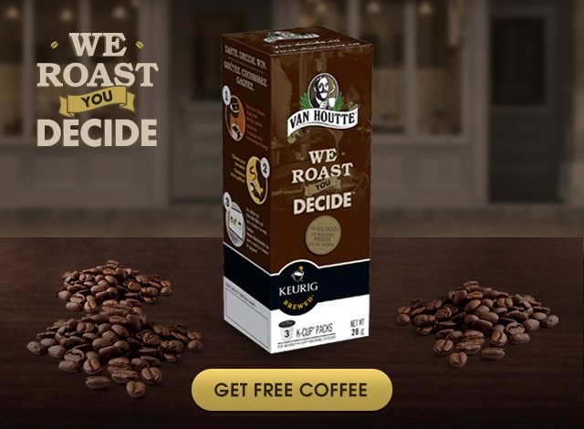 We thought that you might envoy some free Coffee from Van Houtte®.