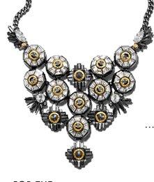 Henri Bendel Crystal Rivet Bib Necklace