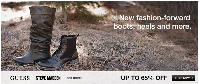 New fashion-forward boots, heels and more
