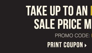 Take up to an extra 25% off sale price merchandise** Print coupon.