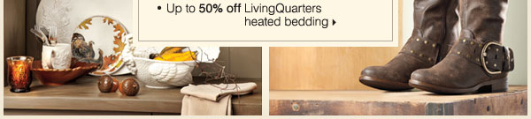 Up to 50% off LivingQuarters heated bedding.