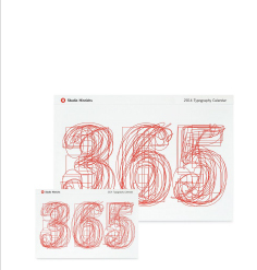 365 TYPOGRAPHY CALENDAR Designed by Studio Hinrichs
