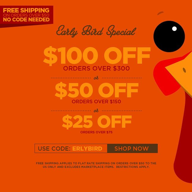 Save Big with the Early Bird Special