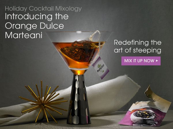 Holiday Cocktail Mixology: Introducing the Orange Dulce Marteani. Redefining the are of steeping. Mix it up now...